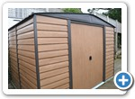 Metal Shed on Concrete Base